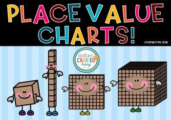 Place Value Charts - FREEBIE!