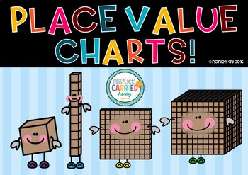 Place Value Charts - FREEBIE!