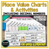 Place Value Charts & Activities - Including Decimals-From Billions to Hundredths