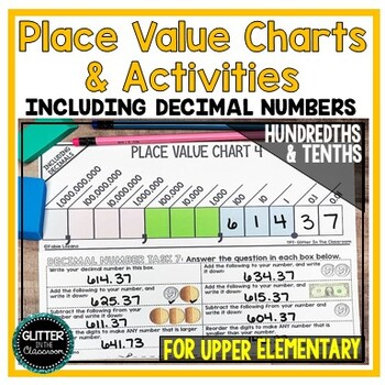 Blank Place Value Chart With Decimal Teaching Resources Teachers