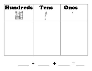 Place Value Charts / Mats : Hundreds, Tens, Ones: Tens & Ones: 12 Different Mats