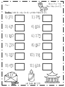 Place Value Chinese New Year Practice