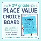 Place Value Choice Board - 2nd Grade, Editable