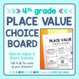 Place Value Choice Board - Editable