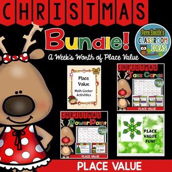 Christmas Math Place Value Bundle