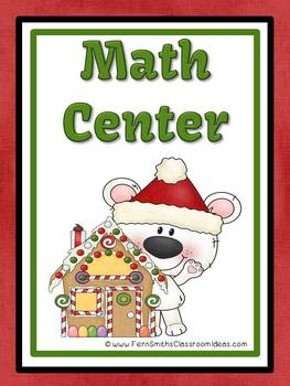 Christmas Place Value Math Center Games for Concentration, Go Fish and Old Maid
