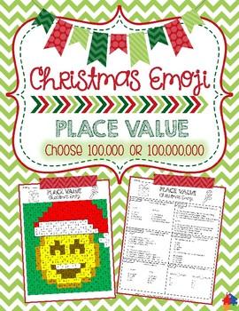 100 Pics Christmas Emoji.Place Value Christmas Emoji Hundred Thousands Or Hundred Millions
