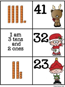 Place Value Christmas Match Up