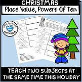 Place Value, Powers of Ten Christmas Activity Math Enrichment 5th Grade