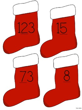 Place Value Christmas Theme Common Core Aligned