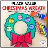 Place Value Christmas Wreath Craftivity   Christmas Math Craft