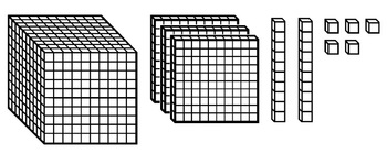 place value clip art base 10 blocks number lines dice