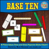 Place Value Popsicle Sticks Set-Tens and Ones Clip Art for Teachers