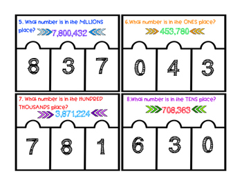 Place Value Clip Cards