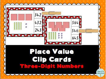 Place Value Clip Cards- 3 Digit