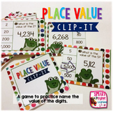 Place Value Clip It Card Game for Centers