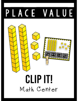 Place Value Clip It! Center- Tens and Ones