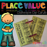 Place Value Clothespin Clip Cards