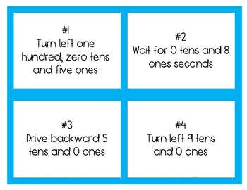 Place Value Coding Task Cards with Dash Robot- Full Pack