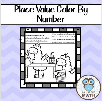 Place Value Color By Number