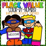 Place Value Color-By-Number B2S Themed