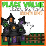 Place Value Color-By-Number Halloween Themed