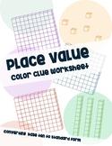 Place Value Color Clue