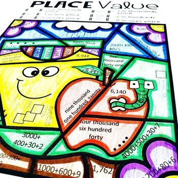 Place Value Color by Code Differentiated 2nd Edition