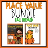 Place Value Color by Code Fall Themed BUNDLE