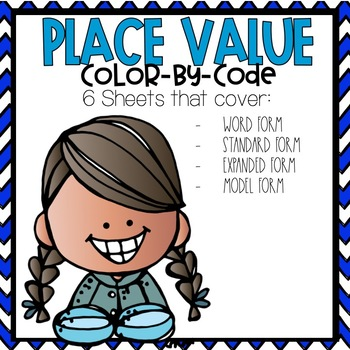 Place Value Color by Code Winter Themed