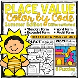 Place Value Coloring Worksheets Summer Edition