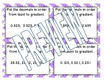 Place Value, Compare, Order, Rounding Whole & Decimal Centers (Math Daily 5)