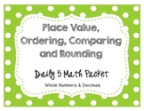 Place Value, Compare, Order, Rounding Whole & Decimal Cent