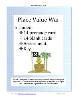 Place Value Compare (whole number to hundred thousand)