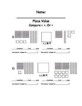 Place Value- Comparing