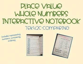 Place Value Comparing Interactive Notebooks