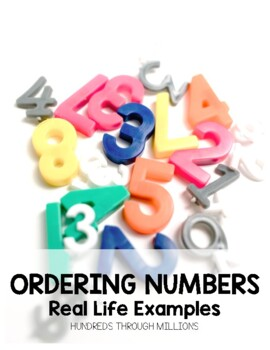 Place Value: Ordering Numbers Cut and Paste
