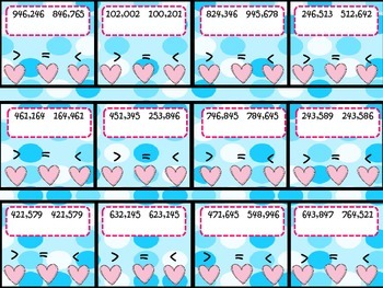 Place Value Comparing Numbers Rounding Math Poke Cards 228 Cards