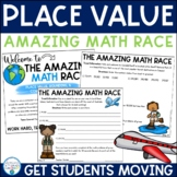 Place Value, Comparing Numbers, and Rounding Review (Amazing Math Race)
