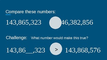 Place Value - Comparing Numbers to the Millions