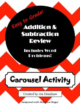 Addition and Subtraction CAROUSEL ACTIVITY