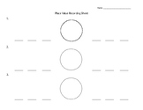 Place Value Comparing Recording Sheet