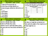 Place Value Comparing Word Problem Task Cards (32)