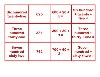 Place Value Concentration Game 5