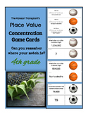 Place Value Concentration Game Cards