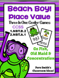 Place Value Beach Boy Three in One Center Games