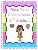 Place Value Concentration (Matching Game)-2nd Grade