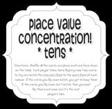 Place Value Concentration - Tens