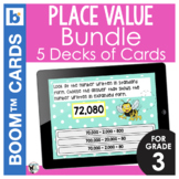 Place Value Concepts Digital Task Cards BUNDLE- 5 DECKS!
