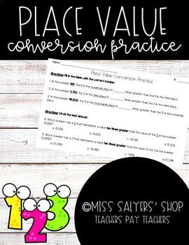 Place Value Conversion Practice